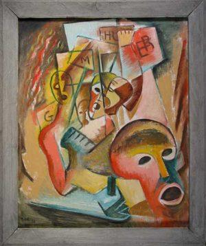 Pickets Leon Bibel oil on canvas; 1938