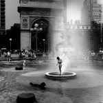 Washington Square, summer, heat wave, fountain