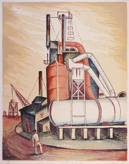 Leon Bibel Industrial Scene