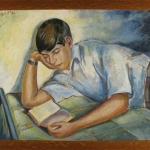 Leon Bibel Young Boy Reading