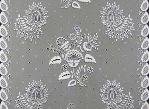 "Eleanor Harrington, White Embroidery for 36"" Chintz"