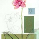 Orchid Collage Hazel Jarvis mixed media