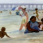 Coney Island Bathers Study-2,Eric March, watercolor, 2009