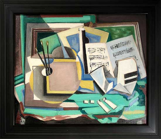 Harry Crowley, Still Life with Music and Palette