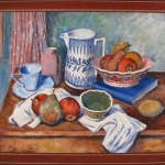 Still Life with Blue and White Pitcher
