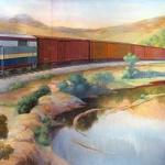 1953 Train Mural