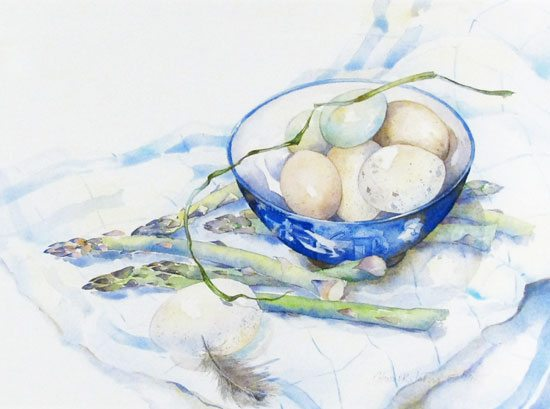 Asparagus and Eggs, Hazel Jarvis