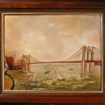Brooklyn Bridge from a Sailing Ship c.1887