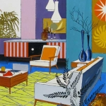 Interior Design with Yellow Rug, Mike Hinge