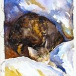 Missy Awake Hazel Jarvis watercolor 2004