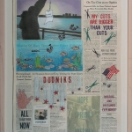 "June 9, 1996""Front Pages, New York Times"" series Nancy ChunnMixed media on newspaper"