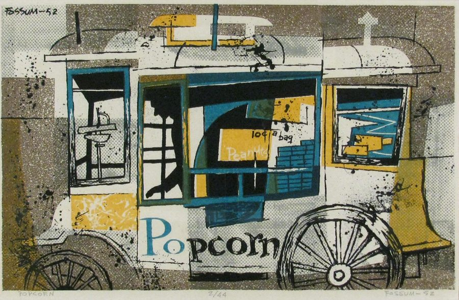 popcorn cart, street vendor, Glenn Fossum
