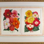 Two Begonia Bouquets chromolithographs c.1875
