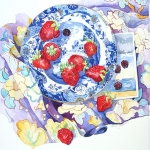 Summer Pleasures,Hazel Jarvis watercolor 2006