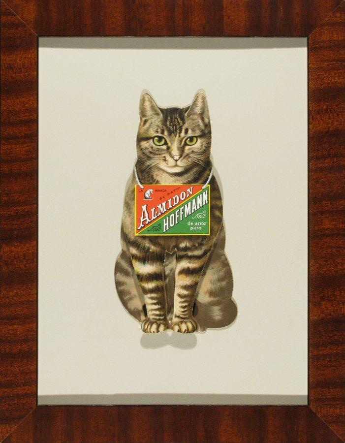 Tabby Cat; Almidon Hoffman; vintage store advertising display; c.1938