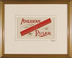 American Ruler; vintage embossed label; c.1900
