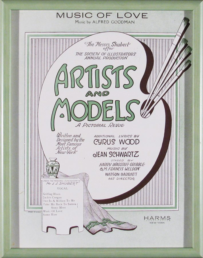 Artists and Models; vintage sheet music; 1923
