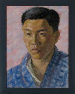 Portrait of Japanese Man; Leon Bibel; oil on canvas; 1934