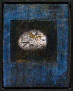Egg; Gernot Nebel; oil and gold leaf painting; 1998