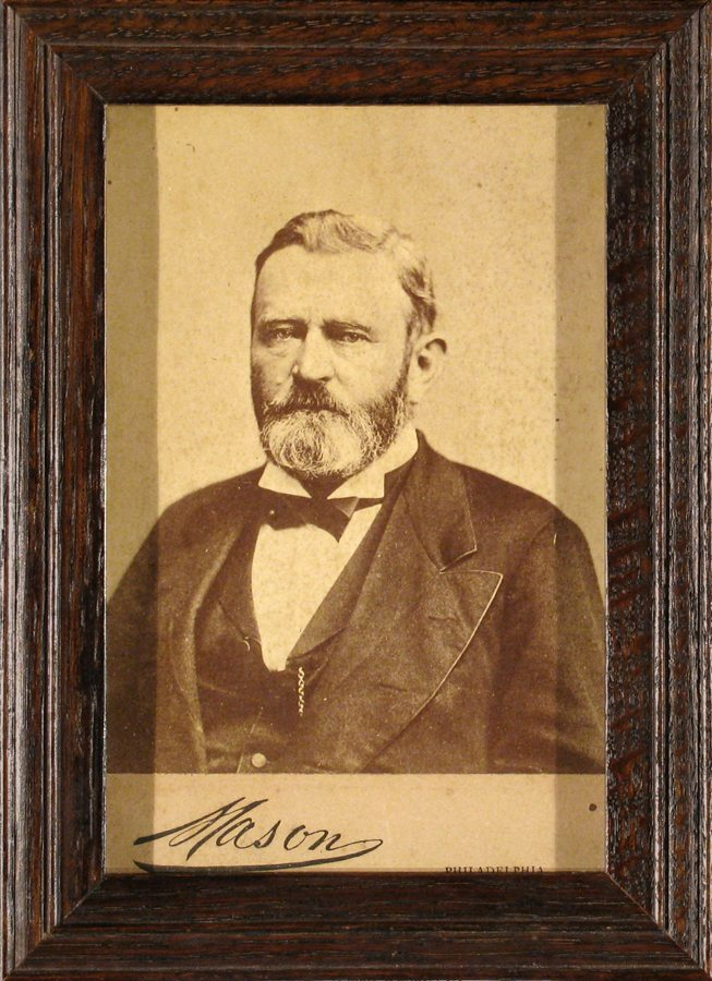 Ulysses S. Grant; Carte de Visite; Mason; c.1800; restored antique frame