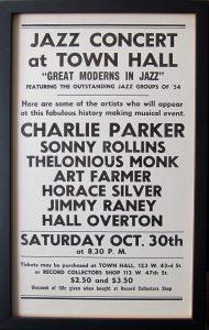 Jazz Concert Town Hall Poster; Charlie Parker; c.1949
