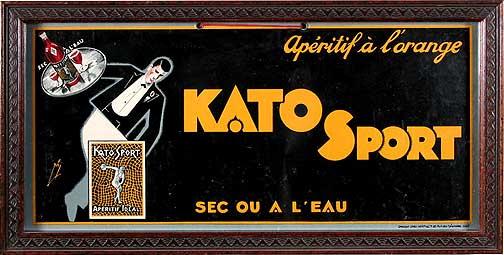 Kato Sport Aperitif; vintage French cafe advertising; c.1930