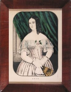 Lucy, Kellogg; c.1845; hand colored lithograph; restored antique frame
