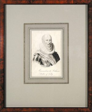 aximilien de Bethune, Duke of Sully; ink wash drawing; c.1640