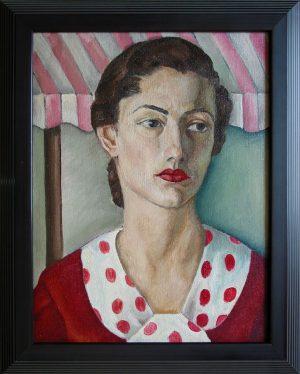 Woman with Polka Dots; Leon Bibel; oil on canvas; c.1935