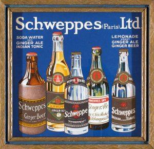 Schweppes; vintage advertising; antique frame; c.1920