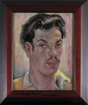 Self-Portrait; Leon Bibel, oil on canvas, 1936