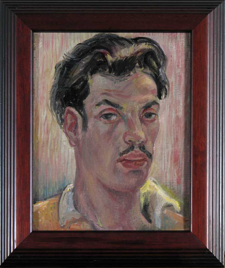 Self-Portrait; Leon Bibel, oil on canvas, 1936