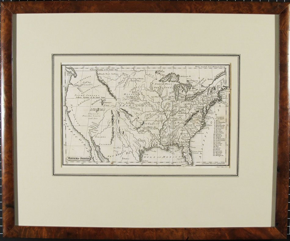 United States Map; Annin & Smith; 1830