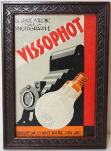 Vissophot; vintage French advertising sign; c.1935