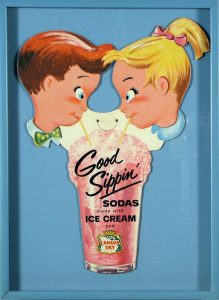 Canada Dry Good Sippin'; vintage store advertising; c.1955