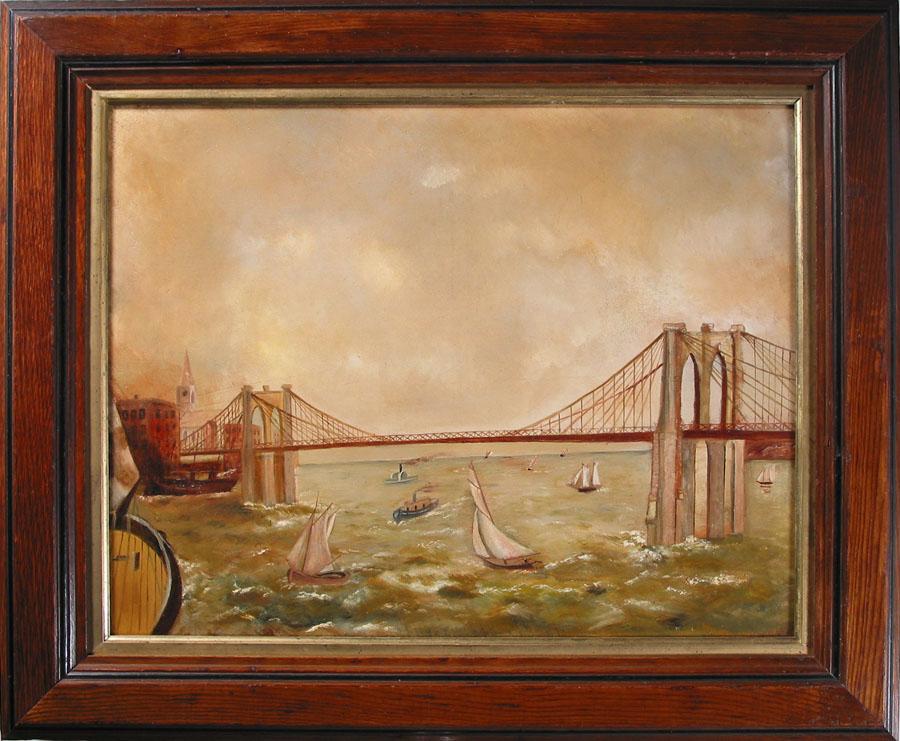Brooklyn Bridge, c.1887, folk art