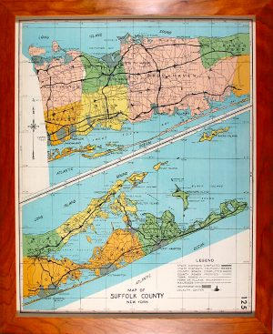 Suffolk County Map, 1940