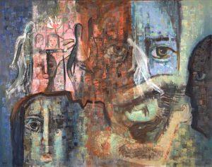 Layers of Dreams Leon Bibel oil on canvas; 1963