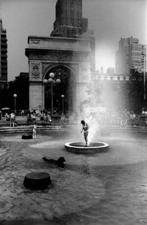 Washington Square, George Forss, silver gelatin print, 1978
