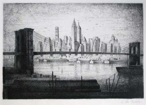 J.M. Esteby Lower Manhattan/Brooklyn Bridge