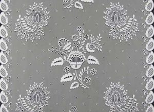 "Eleanor Harrington, White Embroidery for 36"" Chintz"