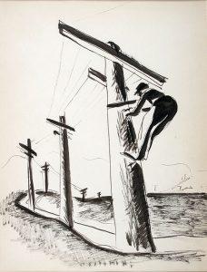 bibel-essay-man-on-telephone-pole