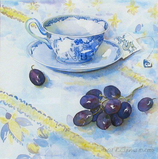 Neita's Cup Hazel Jarvis watercolor 2000
