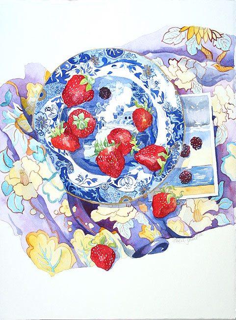 Summer Pleasures,Hazel Jarvis watercolor 2006